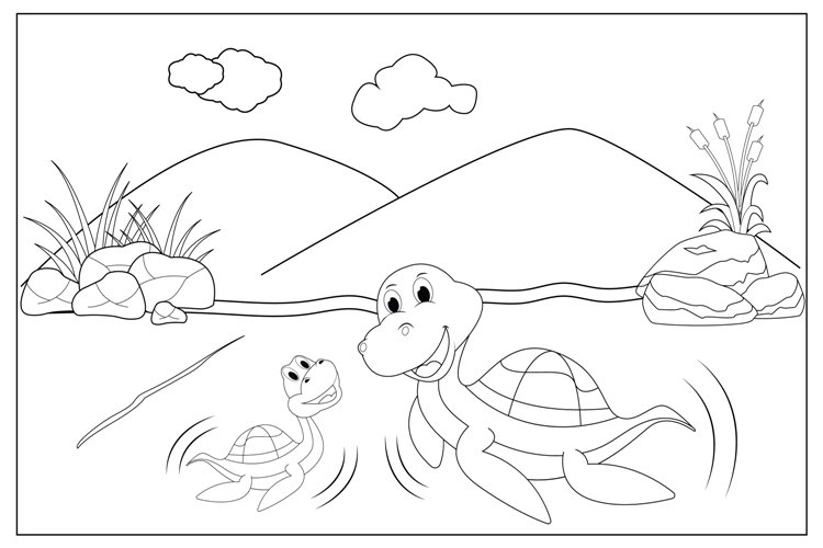 Dinosaur animal coloring sheets for kids example image 1
