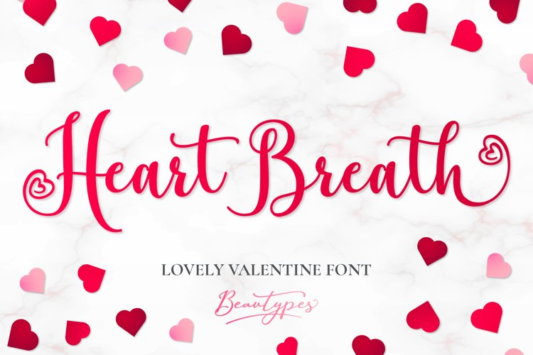 Heart Breath - Lovely Valentine Font example image 1