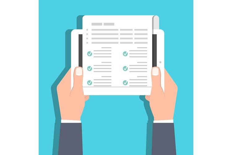 Checklist, Claim form online concept. Vector illustration example image 1