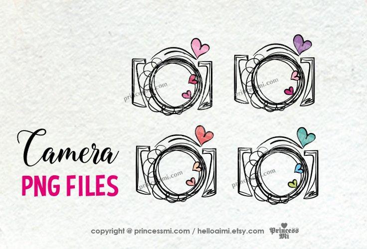 camera clipart set - 4camera png files