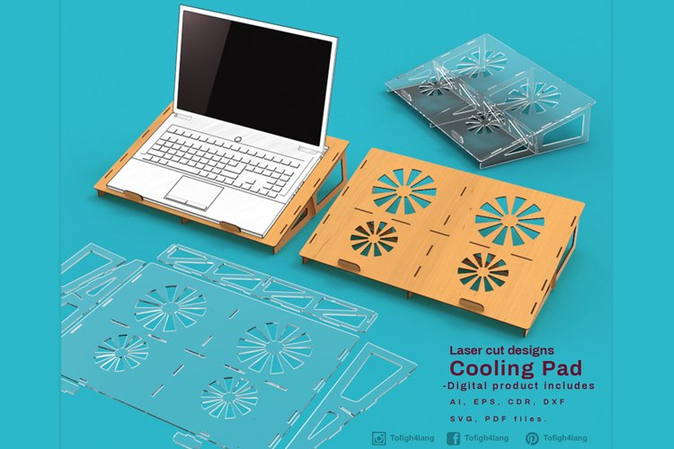 Cooling Pad - laser cutting file example image 1