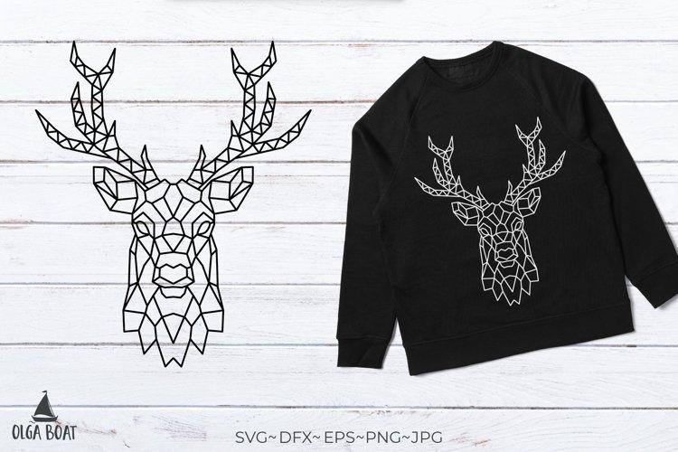 Deer svg Deer head svg Geometric animals Deer head silhouett