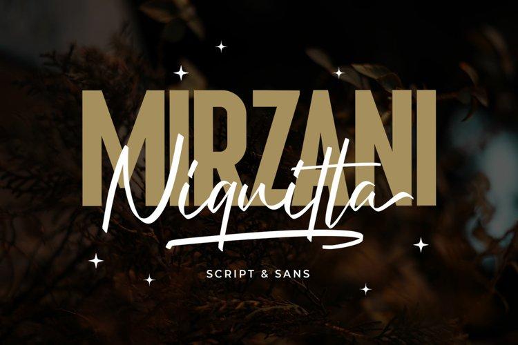 Niquitta Mirzani - Font Duo example image 1