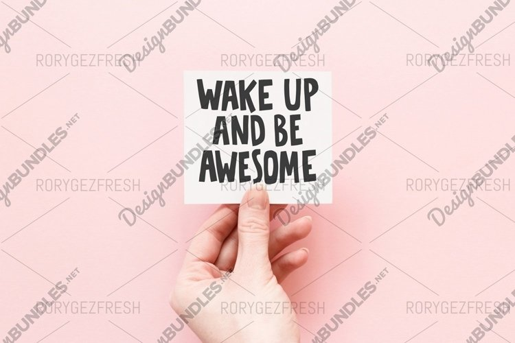 Wake up and be awesome example image 1