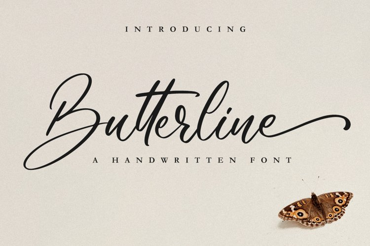 Butterline // Wedding Font example image 1