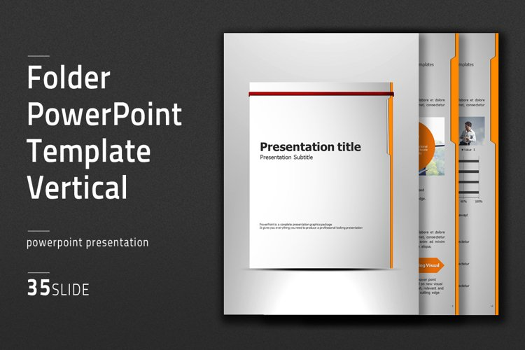 Folder Vertical PPT Template example image 1