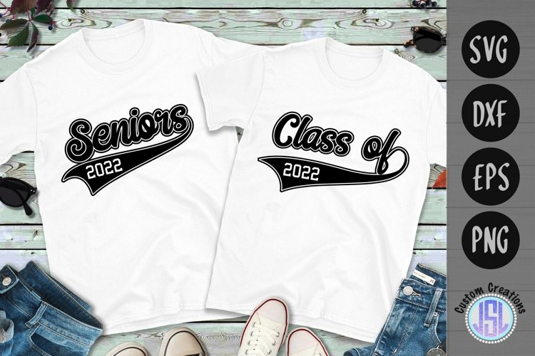 Seniors | Class of 2022 | Bundle Set of 2 | SVG DXF EPS PNG example image 1