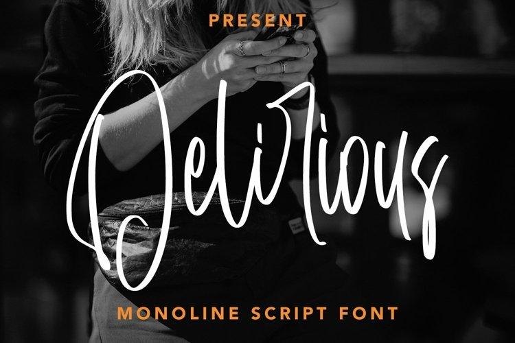 Web Font Delirious - Monoline Script Font example image 1