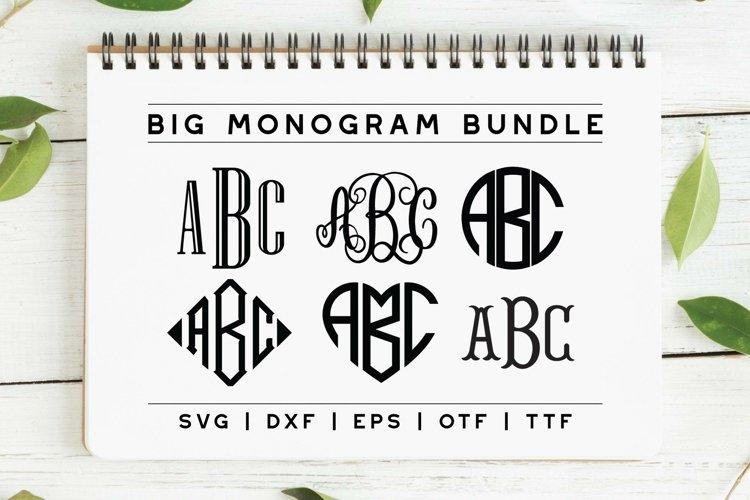 BIG Monogram Cut File & Font Bundle | The Ultimate Bundle! example image 1