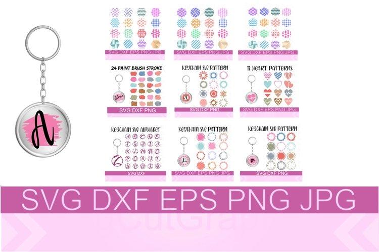 Keychain Bundle SVG PNG DXF Files