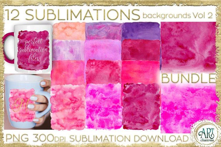 Sublimation BUNDLE Watercolor Pink Purple Vol 2 backgrounds
