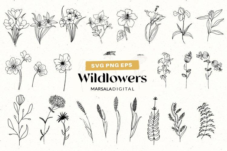 Wildflowers SVG, Flowers SVG bundle, Flowers Clipart