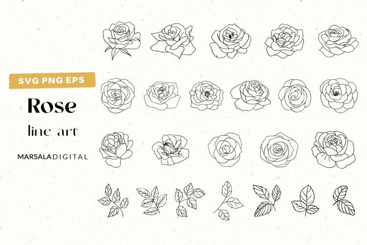 Rose SVG Clipart, Flower SVG Bundle, Rose Clipart Floral svg