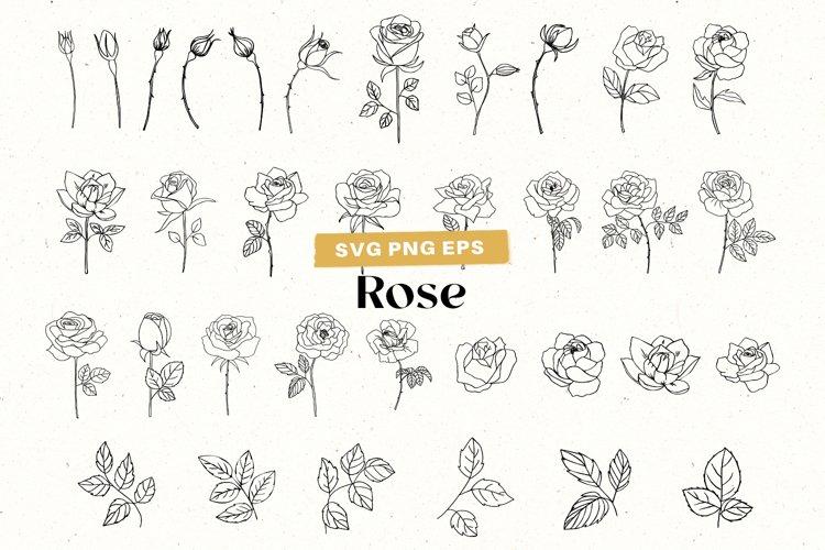 Rose Clipart Floral svg Rose SVG Clipart, Flower SVG Bundle