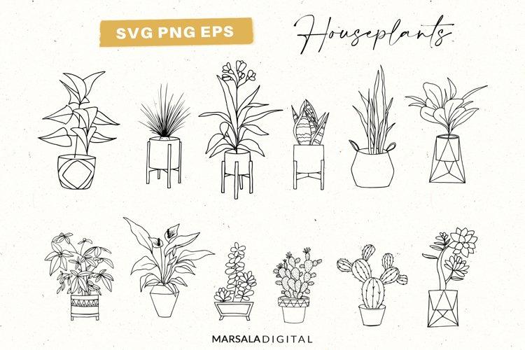 House plants SVG bundle, Indoor plants SVG, Potted plant SVG