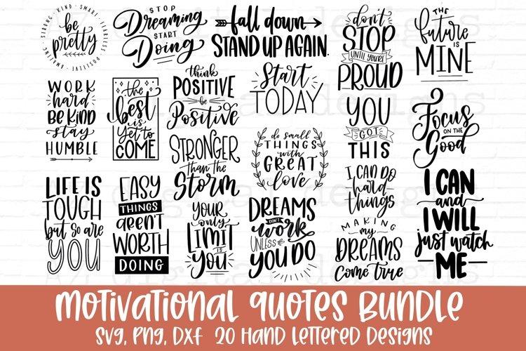 Motivational Quotes svg bundle hand lettered
