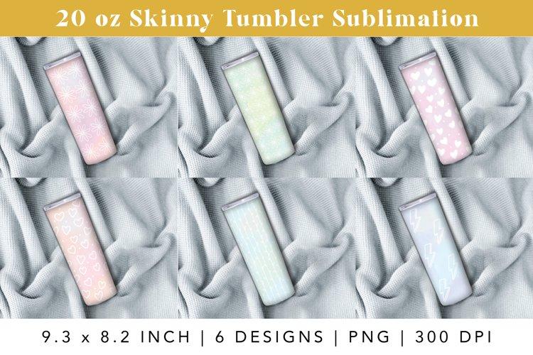 20 oz skinny tumbler sublimation png design, 6 designs