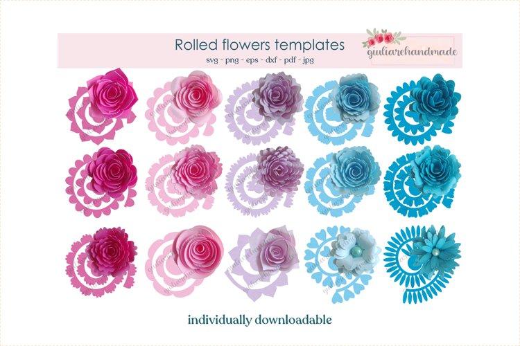 Rolled flower svg, paper flower svg, digital download,