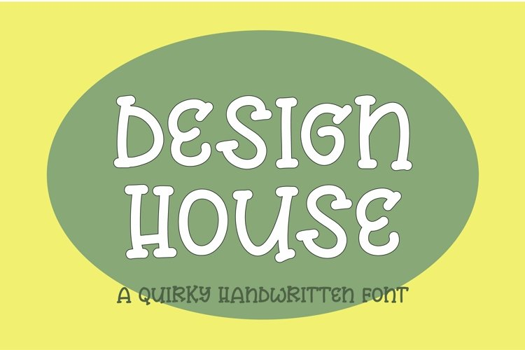 Web Font Design house - a quirky handwritten font example image 1