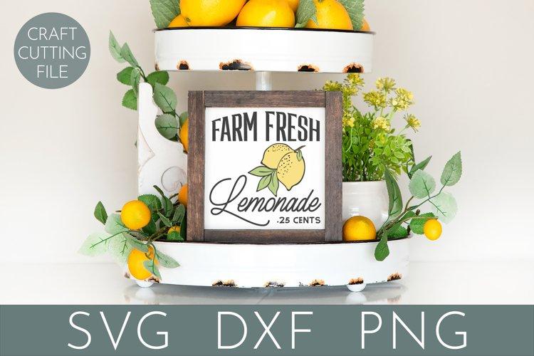 Farm Fresh Lemonade | Lemon Sign SVG | Tiered Tray SVG