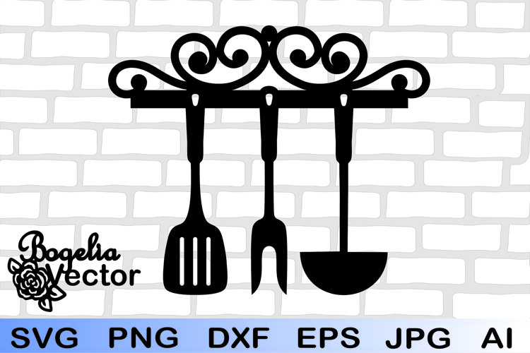 Kitchen Tools Svg, Kitchen Logo Svg, KItchen Clipart
