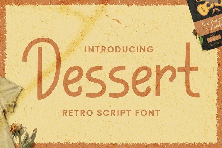 Web Font Dessert Font example image 1