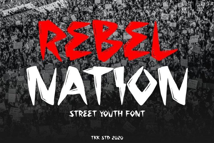 Rebel Nation - Tattoo Graffiti Font example image 1