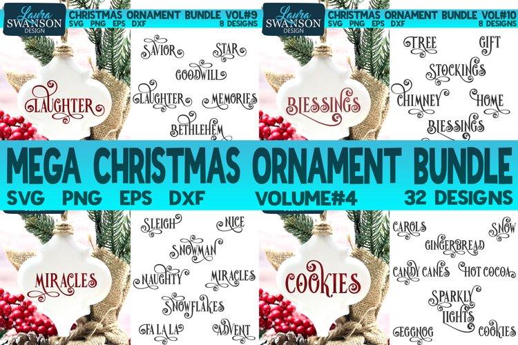 Mega Christmas Ornament Bundle Vol#4 | Christmas SVG Bundle example image 1