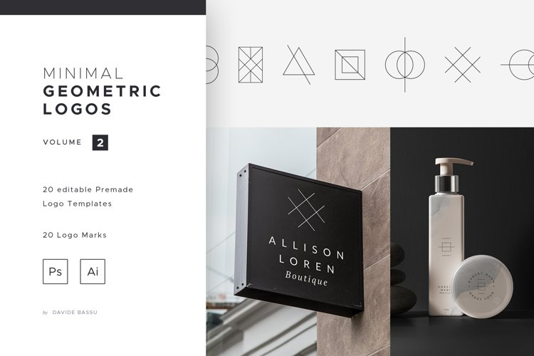 Minimal Geometric Logos - Volume 2