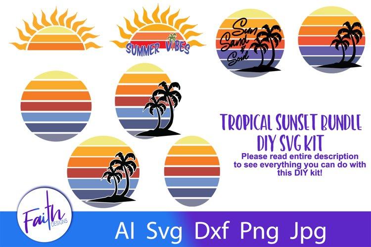 Tropical Sunset Bundle DIY Kit SVG example image 1