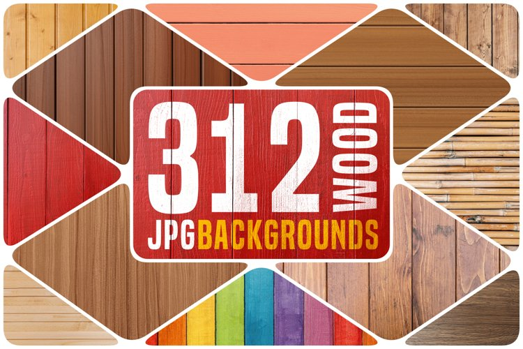 312 Wood Texture Backgrounds Pack example image 1