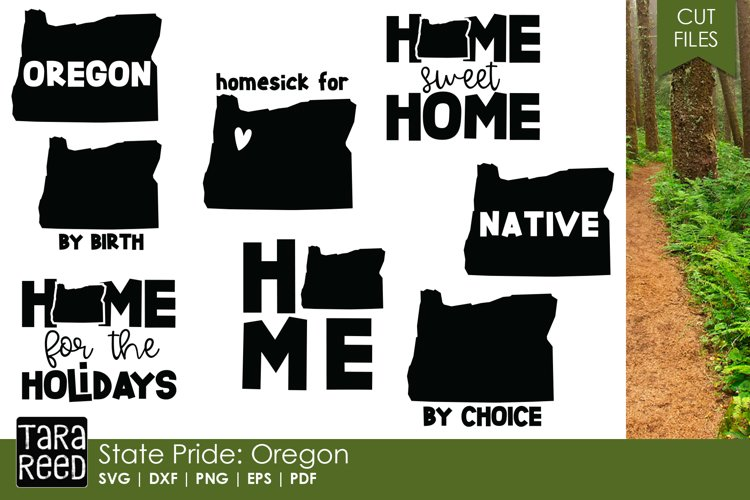 Oregon SVG and Cut Files for Crafters example image 1