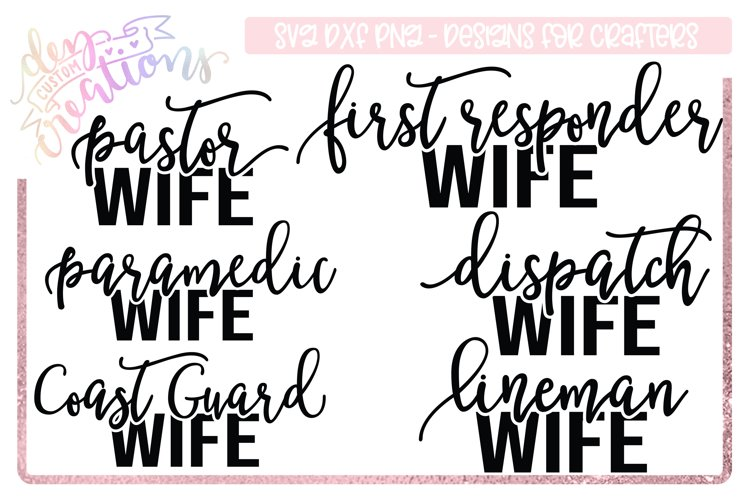 Career Titles Wife SVG Bundle