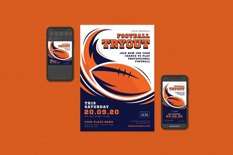Football Tryout Flyer