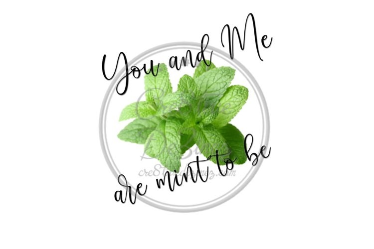 You and Me are Mint to Be - Kitchen Food Pun - Sublimation example image 1