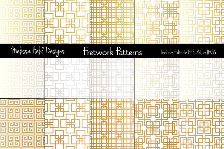 Metallic Fretwork Patterns