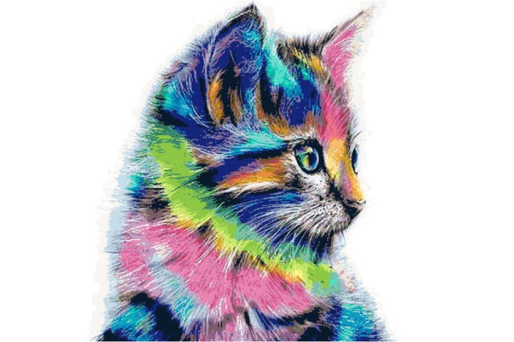 The Painted Cat Cross Stitch Pattern