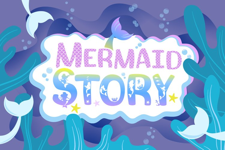 Mermaid Scales Font | Mermaid Font Duo example image 1