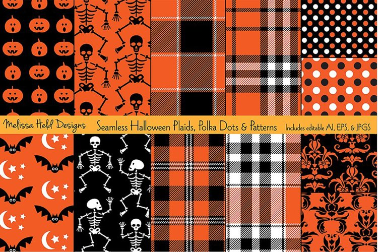 Halloween Plaids, Dots & Patterns example image 1