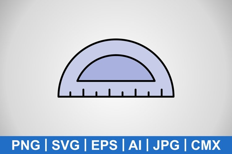 Vector Protractor Icon example image 1