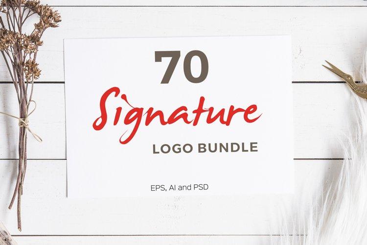 70 Signature Logo Bundle example image 1