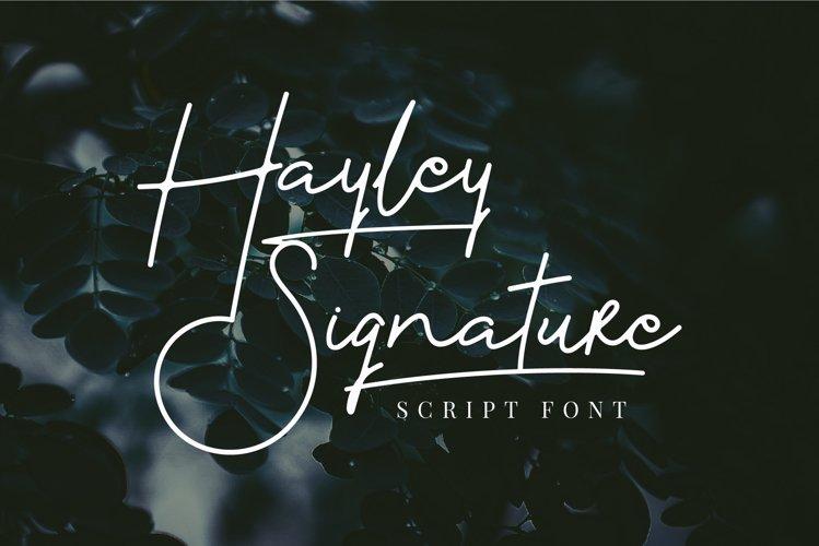 Hayley Signature example image 1