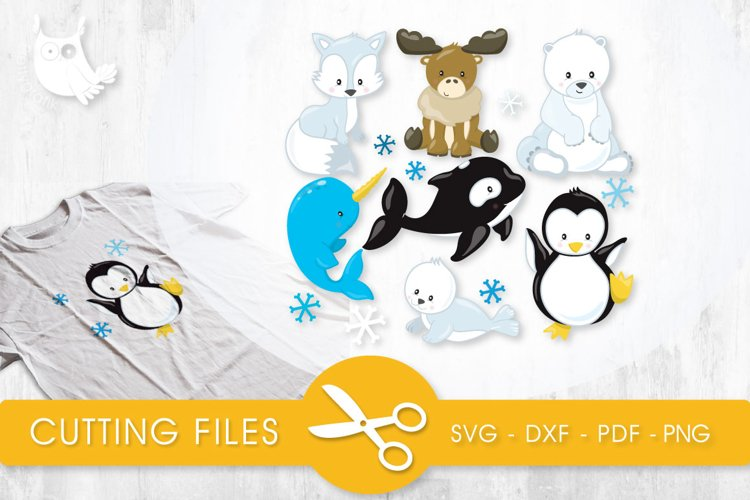 Artic Animals cutting files svg, dxf, pdf, eps included - cut files for cricut and silhouette - Cutting Files SVG