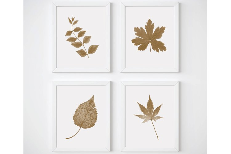 Farmhouse Botanical Print, Brown Wall Art, Kitchen Print Set