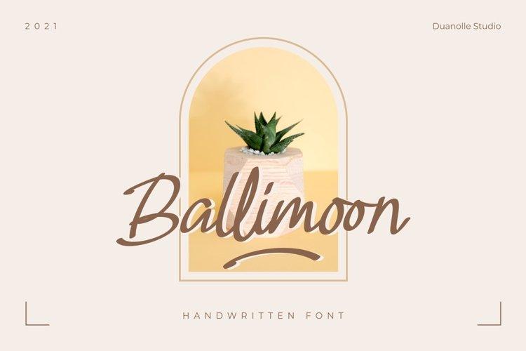 Ballimoon // Handwritten font