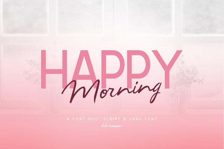 Happy Morning Font Duo example image 1