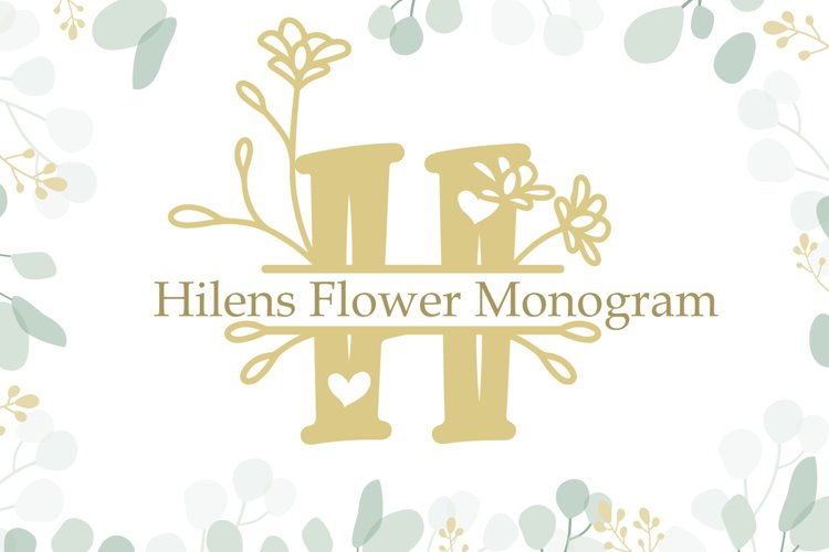 Hilens Flower Monogram example image 1