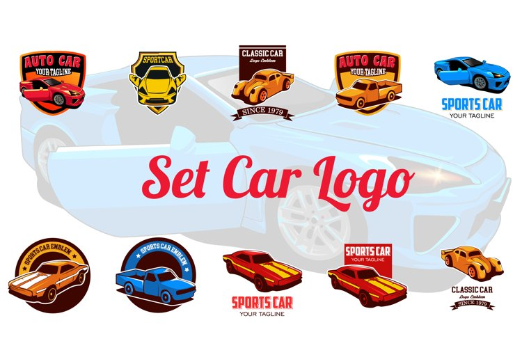 Set Sports Car Logo emblems example image 1