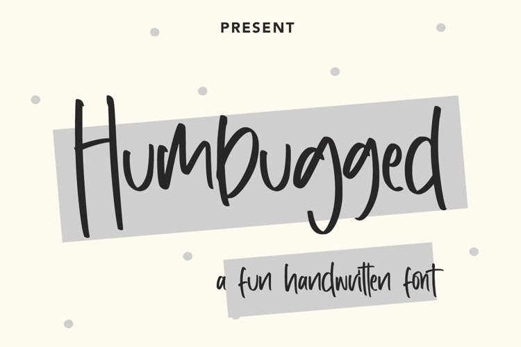Humbugged - Fun Handwritten Font example image 1