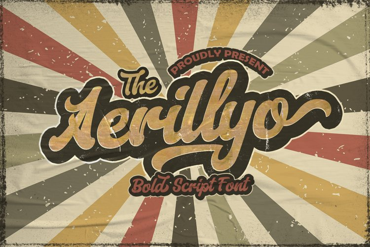 Aerillyo - Retro Bold Script Font example image 1